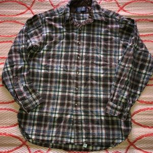 Vintage Mens Pendleton Virgin Wool Flannel Plaid